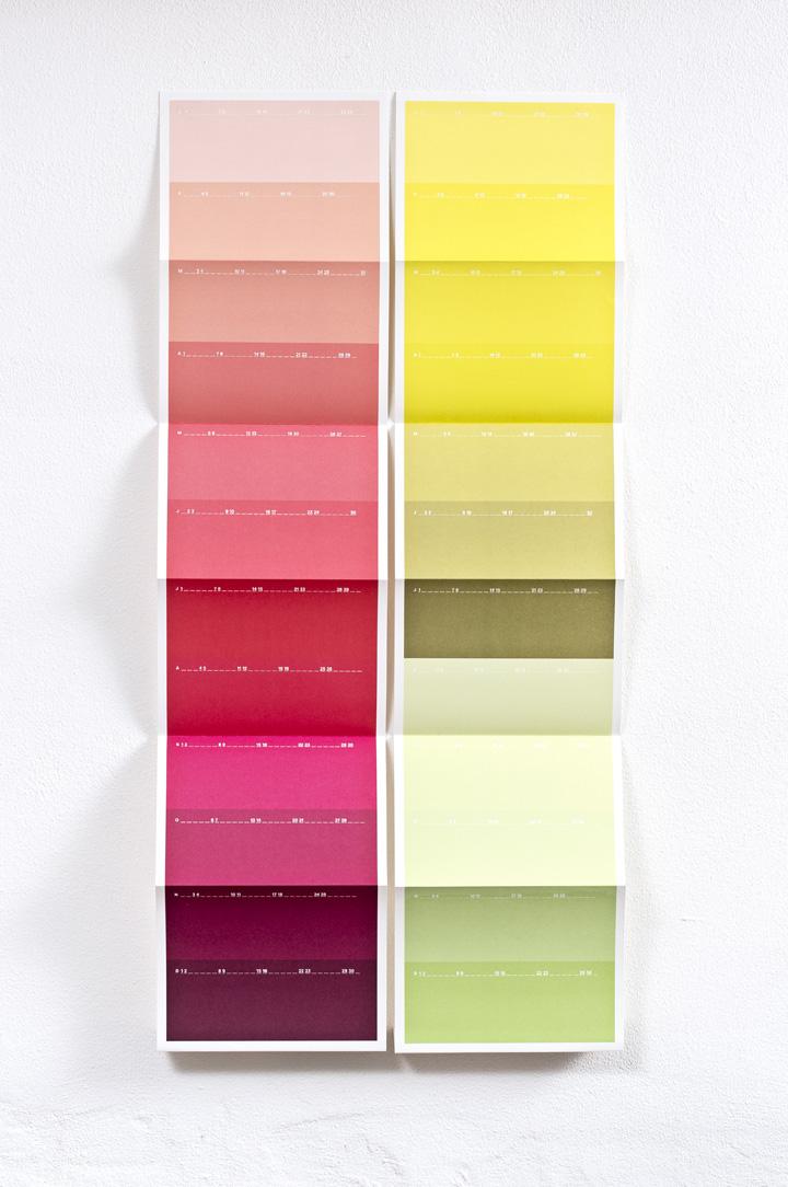Kalender, 12 farver